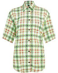TOPSHOP - Silk Bowling Shirt - Lyst