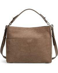AllSaints - Cooper Nubuck Leather Tote - Lyst