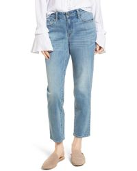 Treasure & Bond - Pansy Embroidered Crop Boyfriend Jeans (granite Light Embroidery) - Lyst