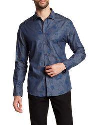 Vince Camuto - Floral Print Trim Fit Sport Shirt - Lyst