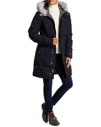 Spyder - Lavinia Hoodie Parka With Faux Fur Trim - Lyst