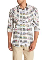 Jared Lang - Sunglasses Patterned Woven Shirt - Lyst
