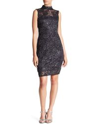 Marina - Embellished Lace Dress (petite) - Lyst