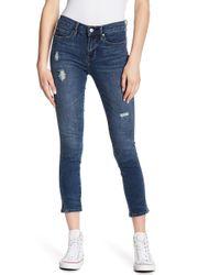 Nicole Miller - Soho High Waist Slit Cuff Skinny Jeans - Lyst