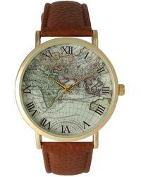 Olivia Pratt - Women's Vintage World Map Quartz Watch - Lyst