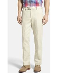 Bonobos - Beige Woven Regular Fit Single-pleated Trouser - Lyst