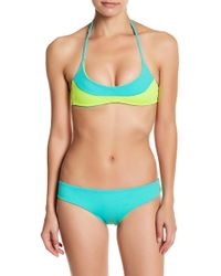 IMSY Swim - Julie Colorblock Triangle Reversible Bikini Top - Lyst