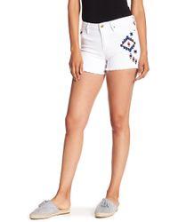 Nanette Lepore - Ikat Embroidered Denim Shorts - Lyst