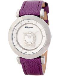Ferragamo - Women's Minuetto Diamond Quartz Watch, 37mm - 0.004 Ctw - Lyst