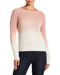 Lucky Brand - Dip Dye Button Back Pullover - Lyst