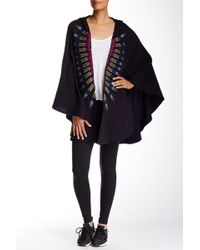 Mara Hoffman - Embroidered Hooded Cape - Lyst