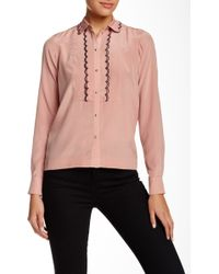 Orla Kiely - Scallop Trim Silk Blouse - Lyst