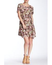 Blush Noir - Floral Print Swing Dress - Lyst
