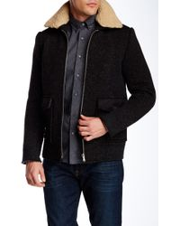 Slate & Stone - Faux Fur Spread Collar Coat - Lyst
