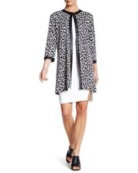 Grayse - Faux Leather Trimmed Animal Print Coat - Lyst