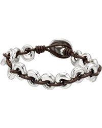 Uno De 50 - Donuts Oval Beaded Woven Leather Bracelet - Lyst