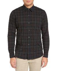 Baldwin Denim - Frank Trim Fit Crinkled Check Sport Shirt - Lyst