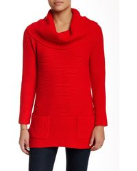 Chaus - Long Sleeve Marilyn Two Pocket Jumper - Lyst