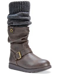 Muk Luks - Sky Knit Cuff Faux Fur Lined Boot - Lyst