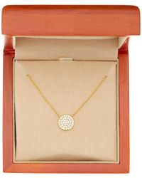 Argento Vivo - 18k Gold Plated Sterling Silver Circle Pendant Necklace - Lyst