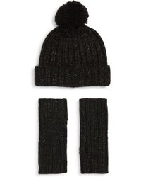 UGG - UGG(R) Shimmer Cable Knit Arm Warmers & Pom Beanie Set - Lyst
