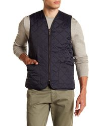 Barbour - Eaves Zip Up Quilted Vest - Lyst