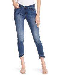 William Rast - Skinny Ankle Asymmetrical Hem Jeans - Lyst