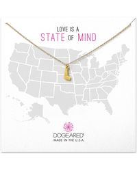 Dogeared - 14k Gold Plated Sterling Silver Delaware Charm Necklace - Lyst