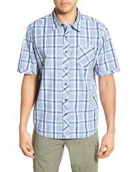 Cova - 'lompoc' Regular Fit Plaid Short Sleeve Sport Shirt - Lyst