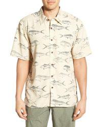 Cova - 'fish Farm' Regular Fit Short Sleeve Print Sport Shirt - Lyst