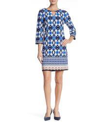 Sandra Darren - Printed Shift Dress - Lyst