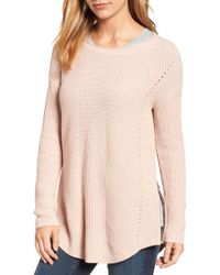 Caslon - Caslon Rib Knit Cotton Tunic - Lyst