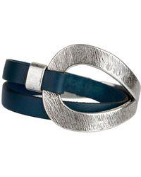 Saachi - Denim Genuine Leather Loop Bracelet - Lyst
