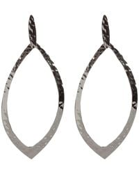 Argento Vivo - Hammered Texture Open Marquise Drop Earrings - Lyst