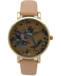 Olivia Pratt - Women's Hummingbird & Flowers Quartz Watch - Lyst