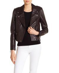PAIGE - Danette Leather Jacket - Lyst
