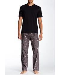 Majestic Filatures - Short Sleeve V-neck Tee & Pant Pajama Set - Lyst