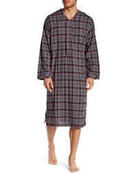 Majestic Filatures - Long Sleeve Flannel Nightshirt - Lyst