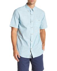 Weatherproof - Short Sleeve Front Button Regular Fit Woven Shirt - Lyst