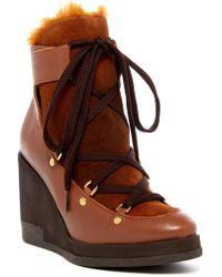 Miista - Alexandra Faux Fur Lined Wedge Boot - Lyst