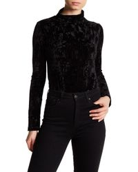 Lucca Couture - Lucy Crushed Velvet Bodysuit - Lyst