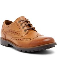 Clarks - Curington Wingtip Leather Derby - Lyst