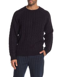 Weatherproof - Cable Knit Crew Neck Sweater - Lyst