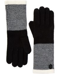 Vince Camuto - Striped Cuff Gloves - Lyst