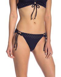 Robin Piccone - Crochet Style Tie Bikini Swim Bottoms - Lyst