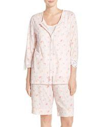 Carole Hochman - Cotton 3-piece Pyjama Set - Lyst