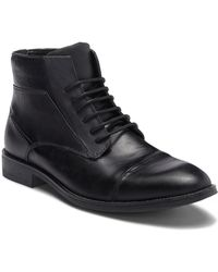 Steve Madden - Radon Cap Toe Leather Boot - Lyst