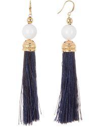 Trina Turk - Beads In Bloom Tassel Earring - Lyst