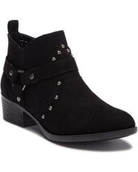 Dirty Laundry - Wallis Suede Perforated Ankle Bootie - Lyst