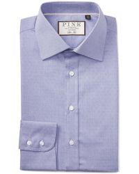 Thomas Pink - Eno Textured Solid Slim Fit Dress Shirt - Lyst